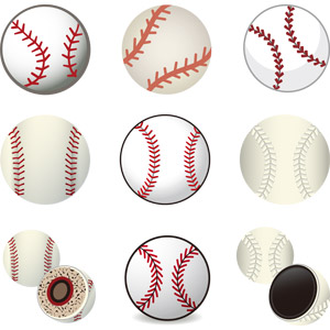 フリーイラスト, ベクター画像, AI, スポーツ, 球技, 野球(ベースボール), 野球ボール, ボール