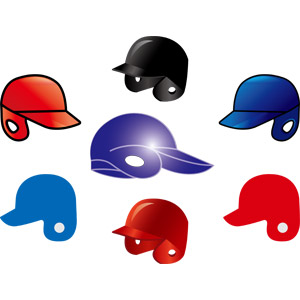 フリーイラスト, ベクター画像, AI, スポーツ, 球技, 野球(ベースボール), ソフトボール, ヘルメット, 野球用ヘルメット