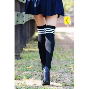 フリー写真, 人体, 脚, 足, 靴下(ソックス), 学生服, 後ろ姿, 学生(生徒)