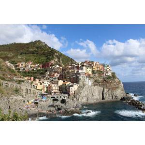 フリー写真, 風景, 建造物, 建築物, 村, チンクエ・テッレ, 海岸, 崖, イタリアの風景, 世界遺産