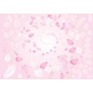 フリーイラスト, ベクター画像, AI, 背景, 植物, 花びら, 桜(サクラ), 桜吹雪, ピンク色, 春