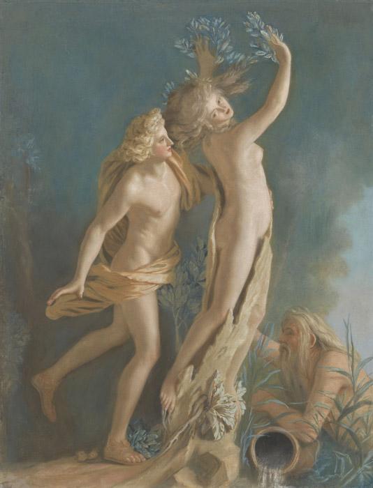 フリー絵画 ジーン・エティエン・リオタール作「アポロンとダフネ」