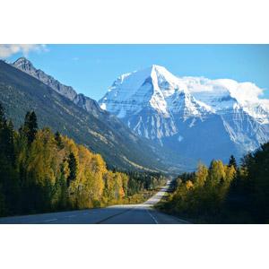 フリー写真, 風景, 山, 道路, ロッキー山脈, カナダの風景