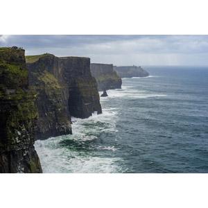 フリー写真, 風景, 自然, 海岸, 崖, 海, アイルランドの風景, モハーの断崖