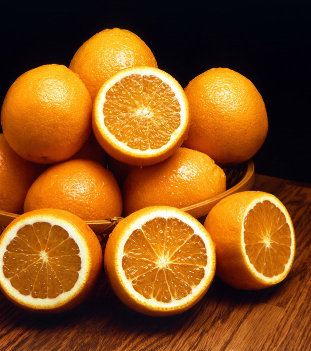 フリー写真 積まれたオレンジ