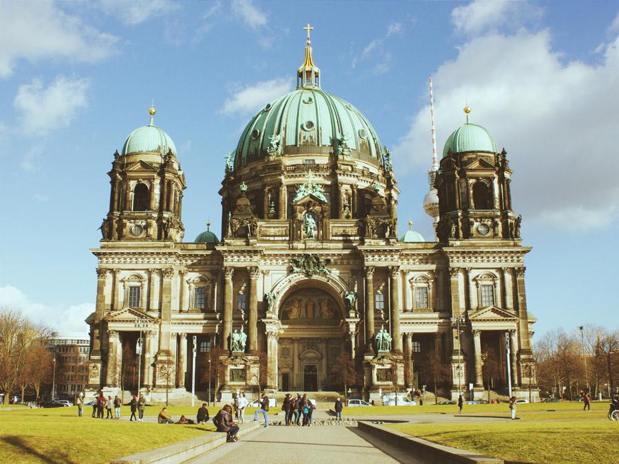 フリー写真 ベルリン大聖堂の風景