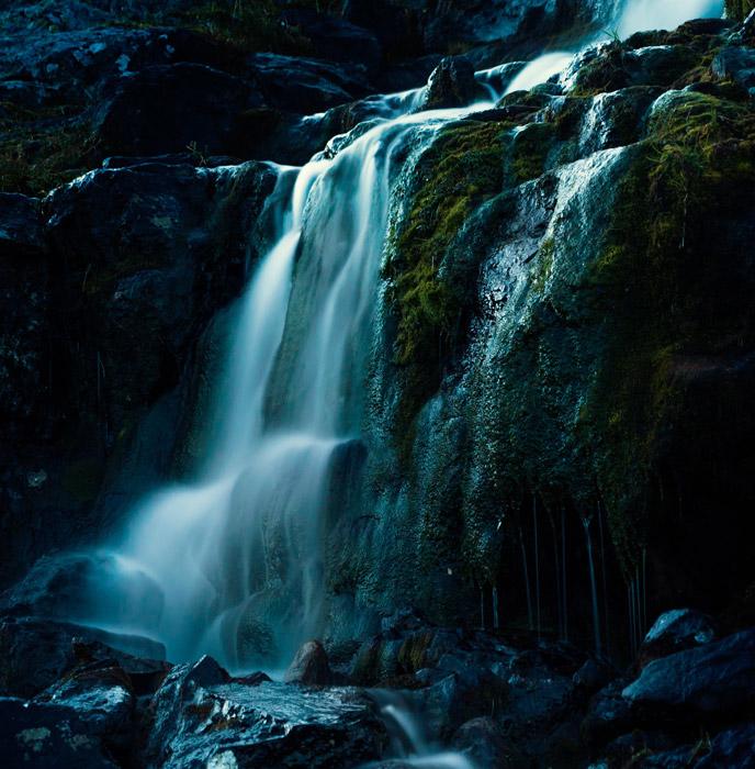 フリー写真 サーレク国立公園の滝の風景