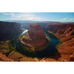 フリー写真, 風景, 自然, 渓谷, 河川, ホースシューベンド, アメリカの風景, アリゾナ州, コロラド川