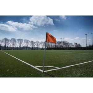 フリー写真, スポーツ, 球技, サッカー, サッカーフィールド, 旗(フラッグ)
