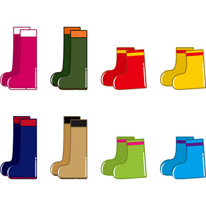 フリーイラスト, ベクター画像, AI, 雨具, 長靴, 靴(シューズ), 梅雨, 6月