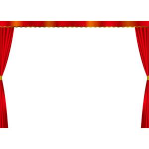 フリーイラスト, ベクター画像, EPS, 背景, フレーム, 舞台幕, 舞台(ステージ)