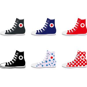 フリーイラスト, ベクター画像, AI, 靴(シューズ), スニーカー, メンズファッション, レディースファッション