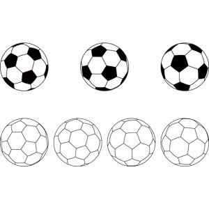 フリーイラスト, ベクター画像, AI, スポーツ, 球技, サッカー, サッカーボール, ボール