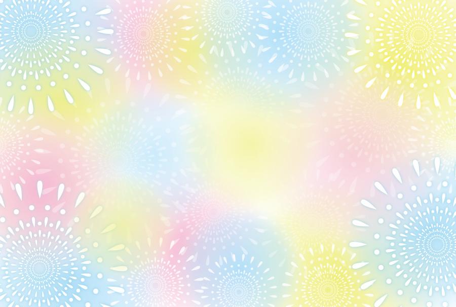 フリーイラスト パステルカラーの花火柄の背景