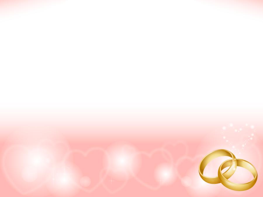 フリーイラスト 結婚指輪とハートの結婚式の背景
