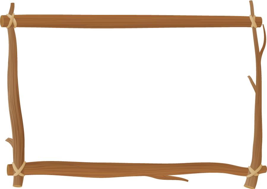フリーイラスト 木枠の囲みフレーム