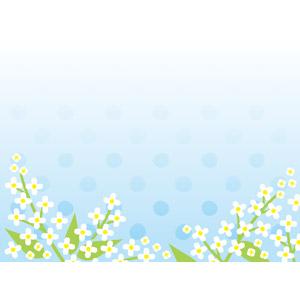 フリーイラスト, ベクター画像, EPS, 背景, 花, ライラック, 白色の花, 水玉模様(ドット柄)
