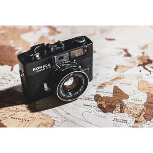 フリー写真, 地図, 世界地図, カメラ, コニカ