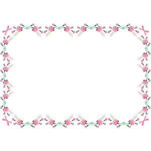 フリーイラスト, ベクター画像, AI, 背景, フレーム, 囲みフレーム, 年中行事, 母の日, 5月, 花, カーネーション, 蝶リボン, ピンク色の花