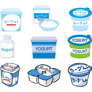 フリーイラスト, ベクター画像, AI, 食べ物(食料), 乳製品, ヨーグルト