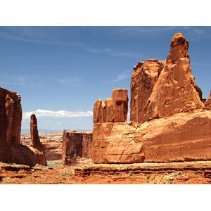 フリー写真, 風景, 自然, 岩山, アーチーズ国立公園, アメリカの風景, ユタ州