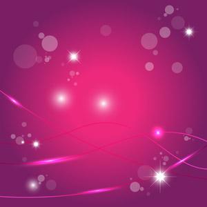 フリーイラスト, ベクター画像, AI, 背景, 抽象イメージ, 玉ボケ, 波線, 輝き, ピンク色
