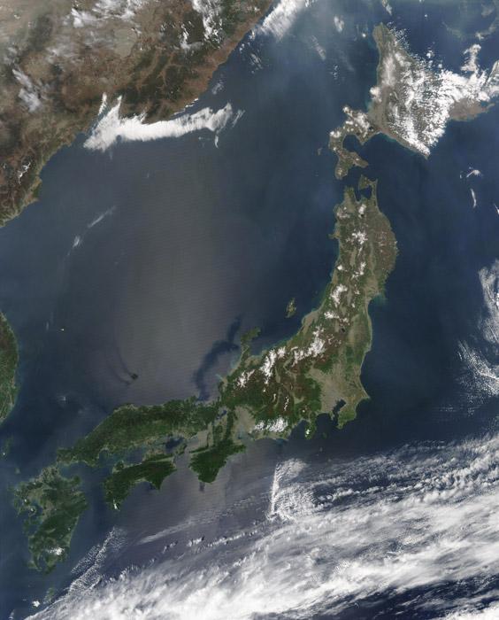 フリー写真 人工衛星から撮影された日本列島