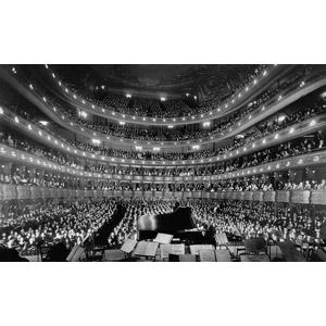 フリー写真, 風景, 建造物, 建築物, 劇場, メトロポリタン歌劇場, 人込み(人混み), 観客, 音楽, コンサート(ライブ), モノクロ, アメリカの風景, ニューヨーク