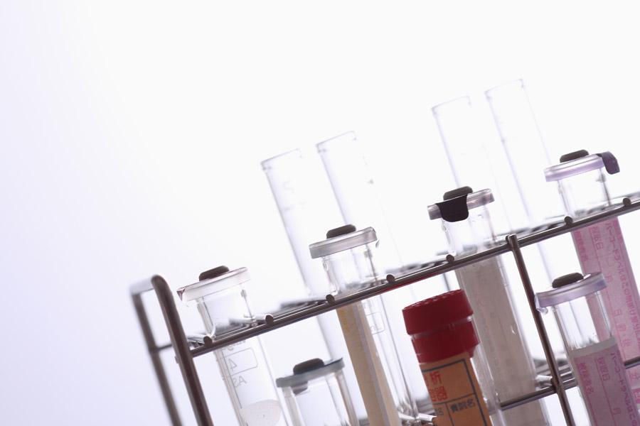 フリー写真 試験官のある実験のイメージ