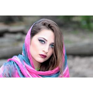 フリー写真, 人物, 女性, 外国人女性, ルーマニア人, スカーフ, 女性(00268)