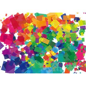 フリーイラスト, ベクター画像, EPS, 背景, 抽象イメージ, 幾何学模様, 四角形(スクエア), カラフル
