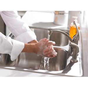 フリー写真, 人体, 手, 手洗い(手を洗う), 水道, 蛇口, 予防医学, インフルエンザ, 食中毒, 医療