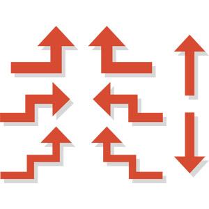 フリーイラスト, ベクター画像, AI, 矢印, 上を指す, 下を指す, 左を指す, 右を指す