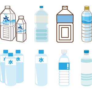 フリーイラスト, ベクター画像, AI, 飲み物(飲料), 水, 飲料水, ペットボトル