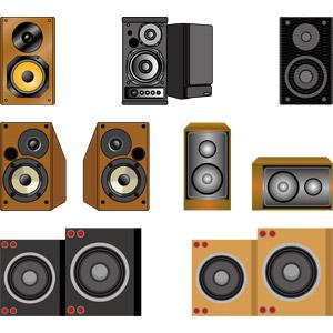 フリーイラスト, ベクター画像, AI, 音楽, 家電機器, オーディオ機器, スピーカー