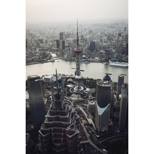 フリー写真, 風景, 建造物, 建築物, 高層ビル, 都市, 街並み(町並み), 塔(タワー), 東方明珠電視塔, 中国の風景, 上海市, 河川