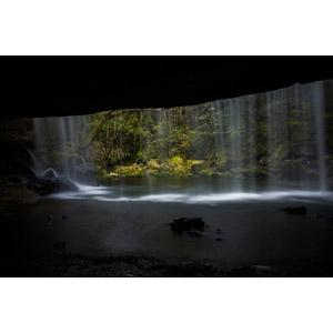 フリー写真, 風景, 自然, 滝, 裏見の滝, 日本の風景, 熊本県