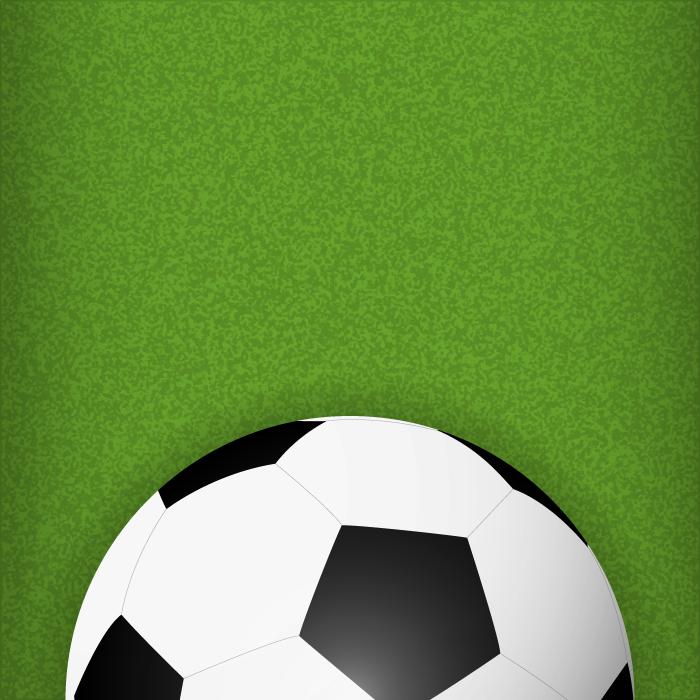 フリーイラスト サッカーボールと芝生の背景