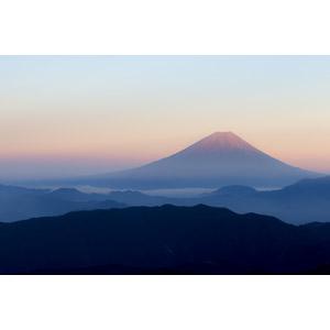 フリー写真, 風景, 自然, 山, 富士山, 日本の風景, 世界遺産, 朝