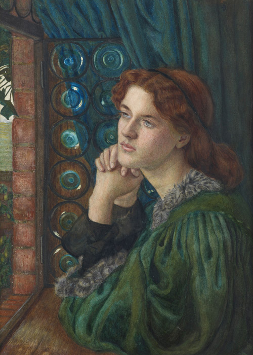フリー絵画 マリー・スパルタリ・スティルマン作「マリアナ」