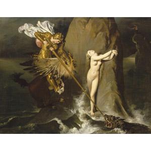 フリー絵画, ドミニク・アングル, 物語画, 狂えるオルランド, 拘束, 怪物, 救出, ヒッポグリフ
