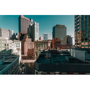 フリー写真, 風景, 建造物, 建築物, 高層ビル, 都市, 街並み(町並み), アメリカの風景, マサチューセッツ州, ボストン