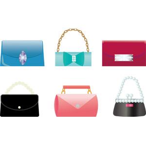 フリーイラスト, ベクター画像, AI, レディースファッション, 鞄(カバン), クラッチバッグ