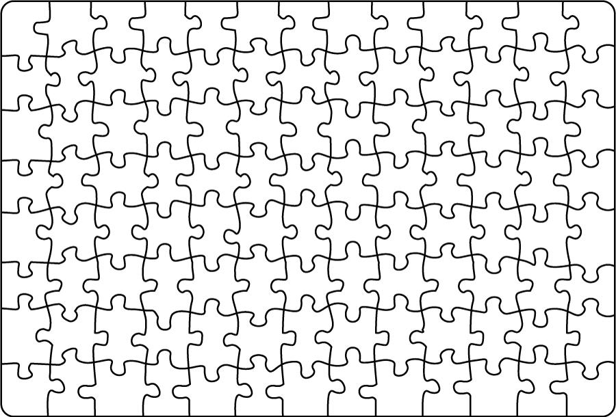 フリーイラスト 白のジグソーパズル