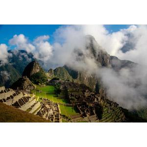 フリー写真, 風景, 建造物, 建築物, 遺跡, マチュ・ピチュ, 山, ペルーの風景, 世界遺産, 雲