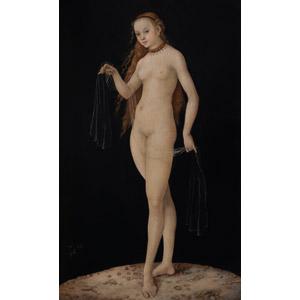 フリー絵画, ルーカス・クラナッハ, 物語画, 神話, ローマ神話, ヴィーナス, 女神