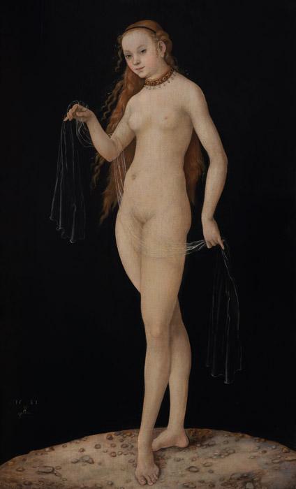 フリー絵画 ルーカス・クラナッハ作「ヴィーナス」
