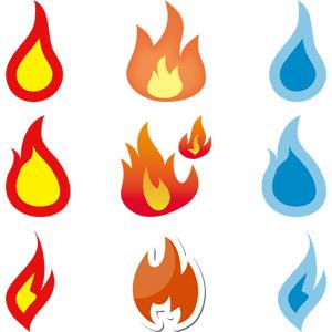フリーイラスト, ベクター画像, AI, 火(炎), 火事(火災)
