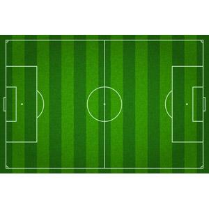 フリーイラスト, ベクター画像, EPS, スポーツ, 球技, サッカー, サッカーフィールド, 緑色(グリーン)