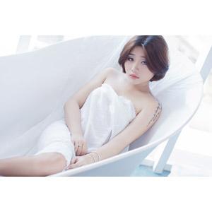 フリー写真, 人物, 女性, アジア人女性, 女性(00144), 浴槽(バスタブ)